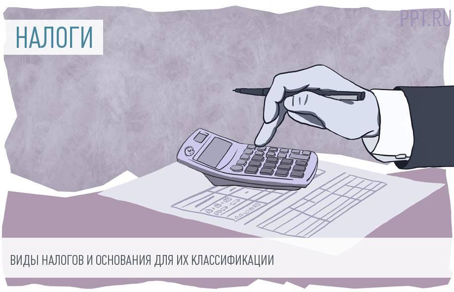 Действующая классификация налогов с примерами