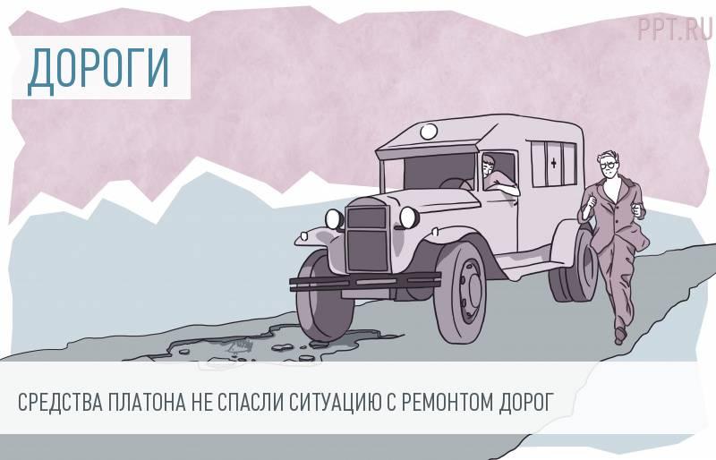 После выдачи бесплатных бортовых устройств у Росавтодора не осталось денег на дороги