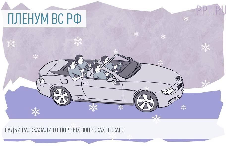 Пленум ВС РФ опубликовал постановление по ОСАГО