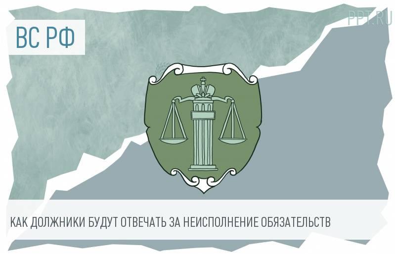 Пленум ВС РФ вынес постановление об ответственности за нарушение обязательств
