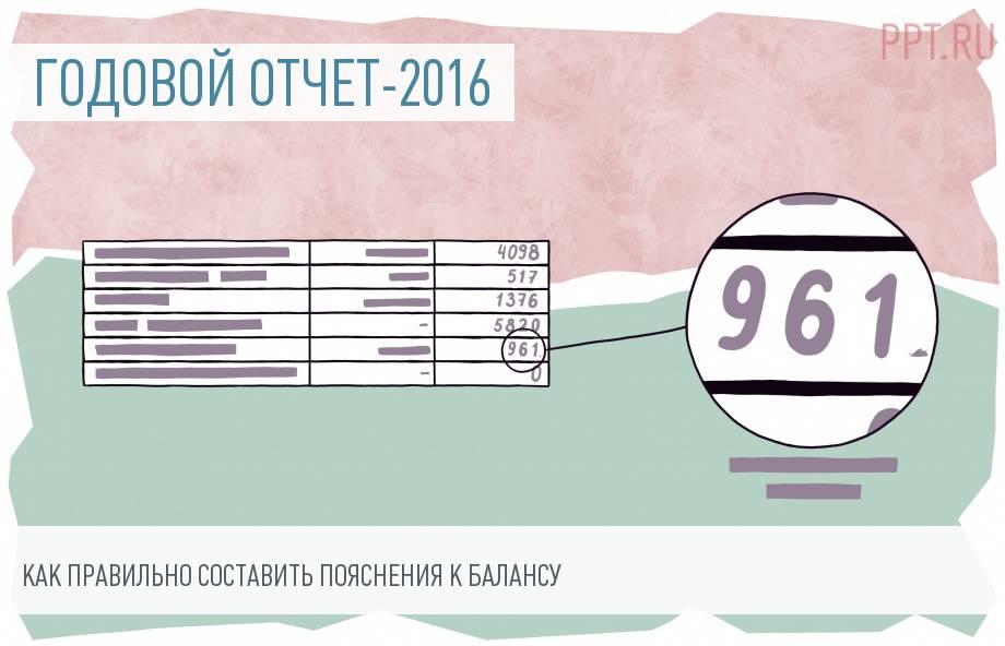 Пояснительная записка к бухгалтерскому балансу 2016