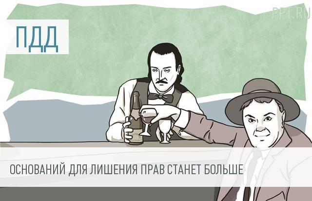 Алкоголь в крови станет основанием для лишения прав