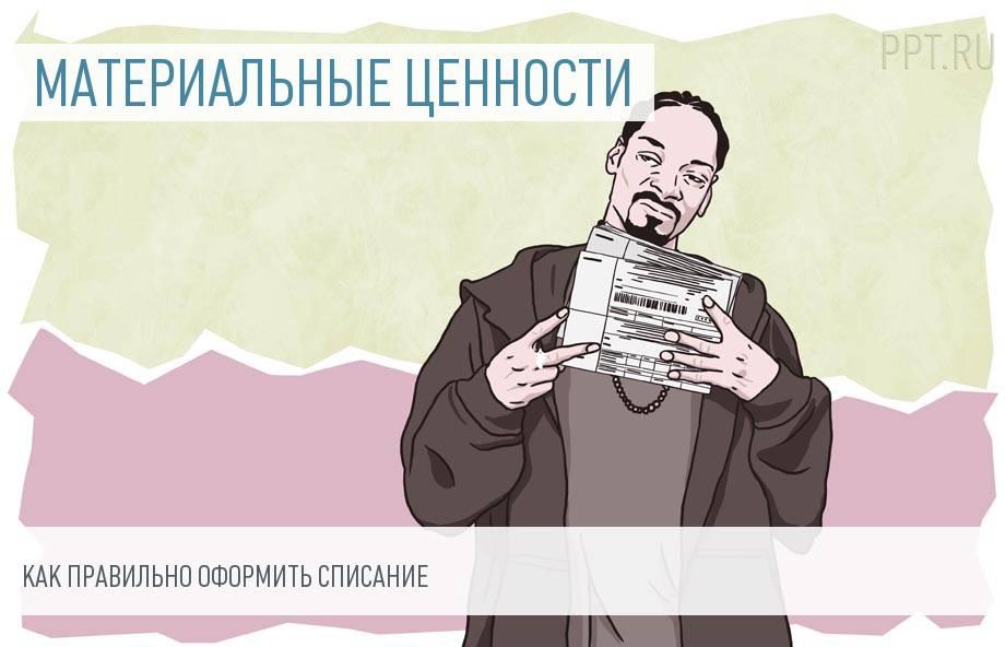 Акт на списание готовой продукции пмр