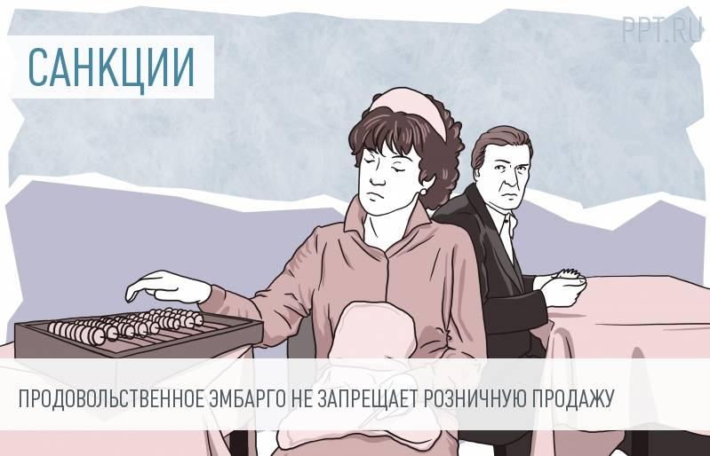 В России продолжают продавать санкционные продукты