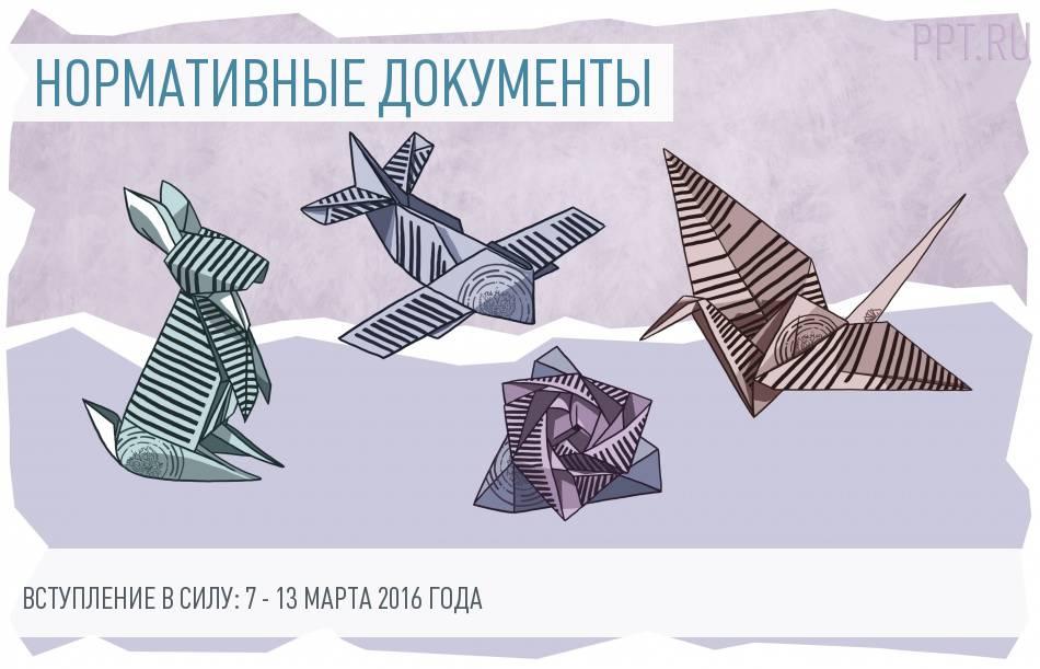 Документы - вступление в силу с 7 по 13 марта 2016 года