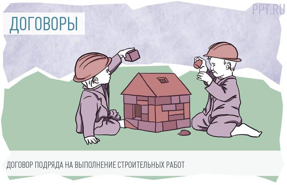 Договор строительного подряда между физическими лицами
