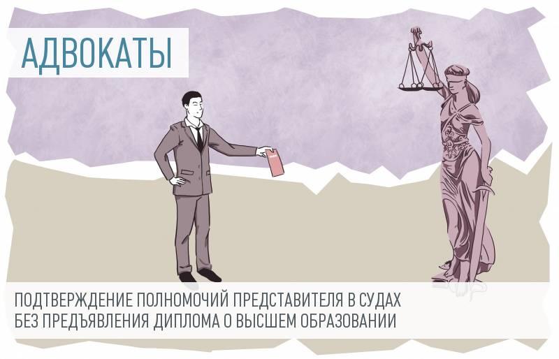Адвокатам могут разрешить не предоставлять диплом в судах
