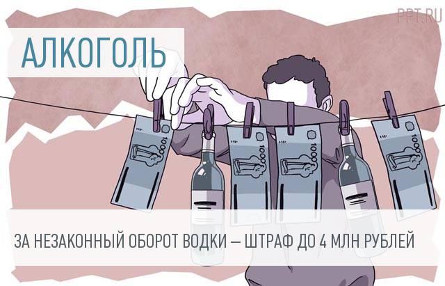Госдума поддержала десятикратное увеличение штрафов за незаконный оборот алкоголя