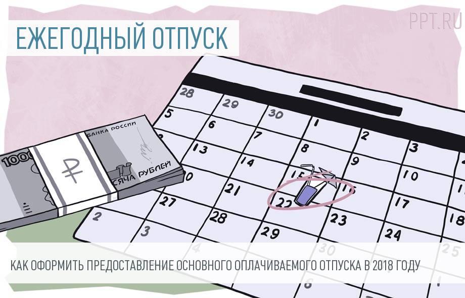 Порядок предоставления ежегодного оплачиваемого отпуска