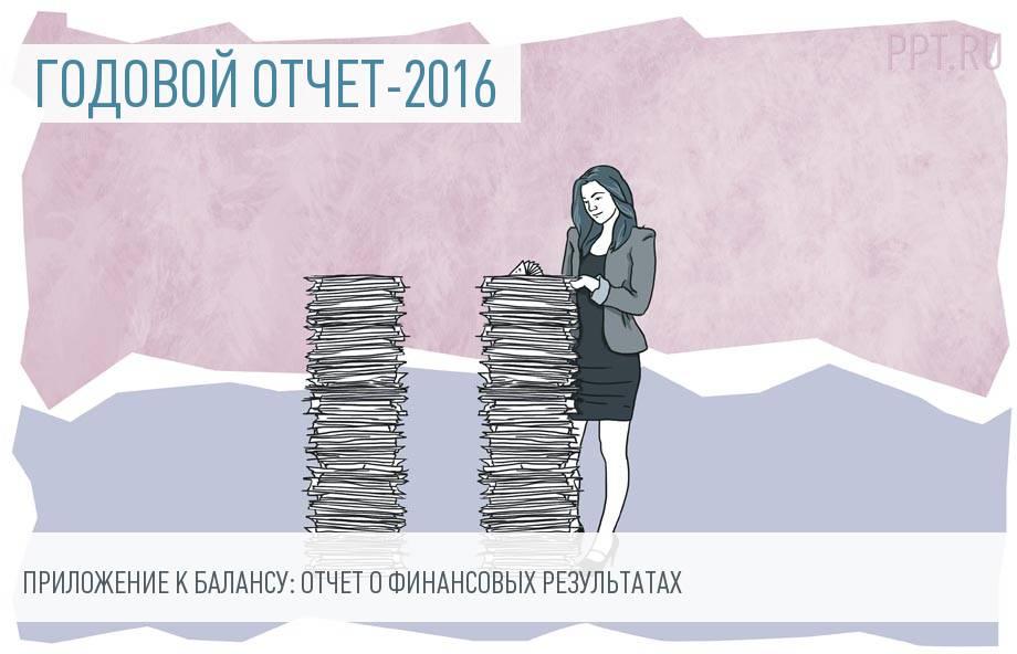 Отчет о финансовых результатах за 2016 год
