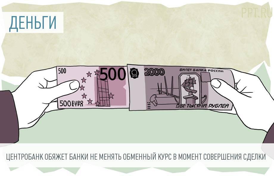 Обменный курс рубля зафиксируют