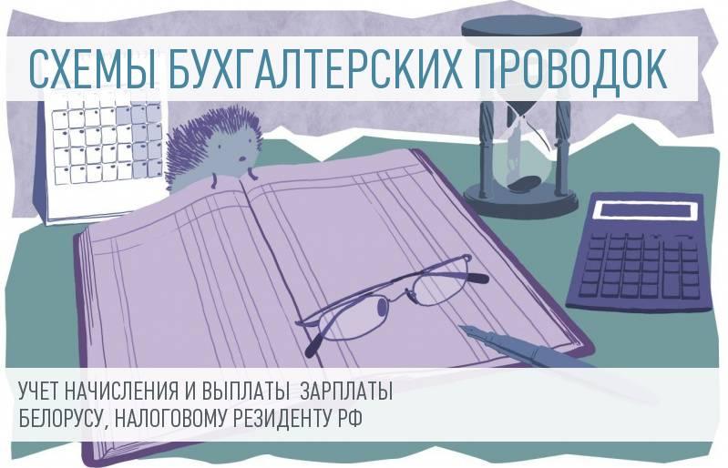 Учет  начисления и выплаты зарплаты гражданину Белоруссии, являющимся налоговым резидентом РФ