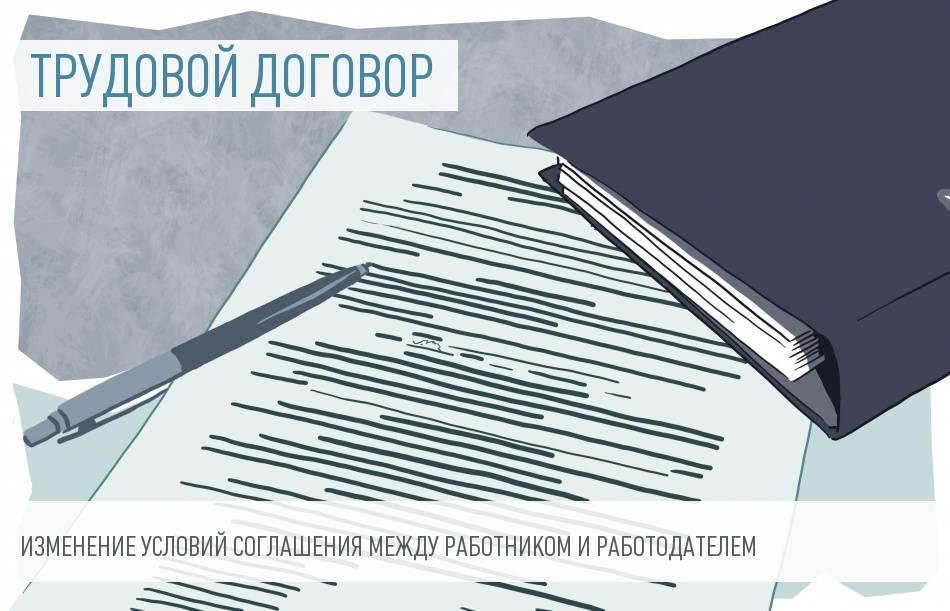 образец уведомления при изменении условий трудового договора