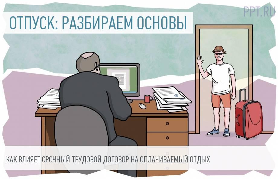 Право на отпуск работающим по срочному трудовому договору