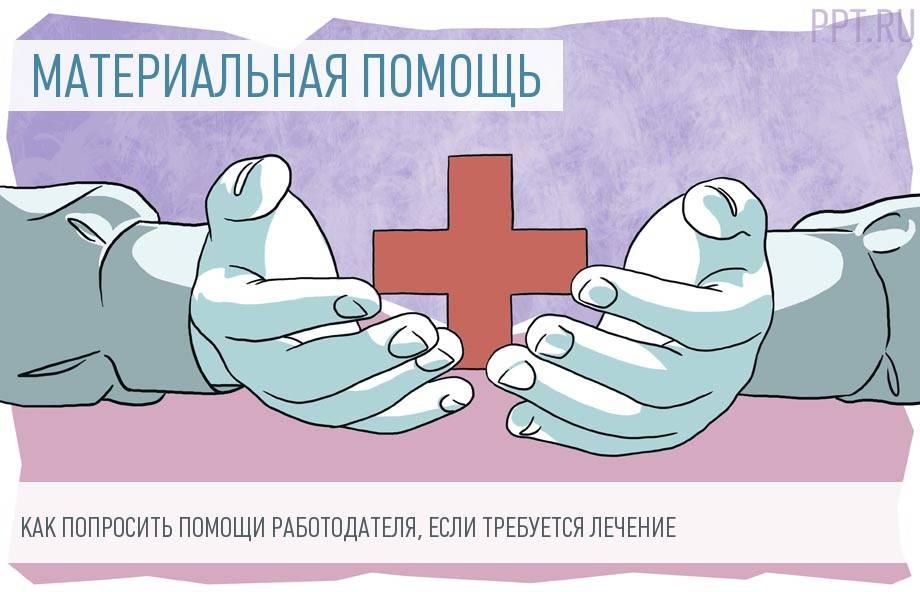 Как заполнить заявление на материальную помощь на лечение
