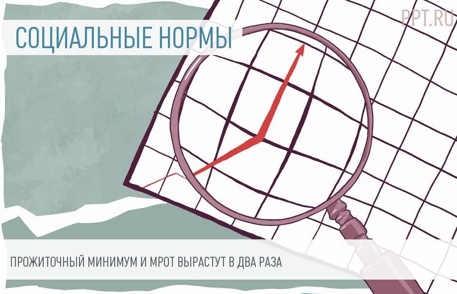 Прожиточный минимум и МРОТ могут вырасти до 25 000 рублей