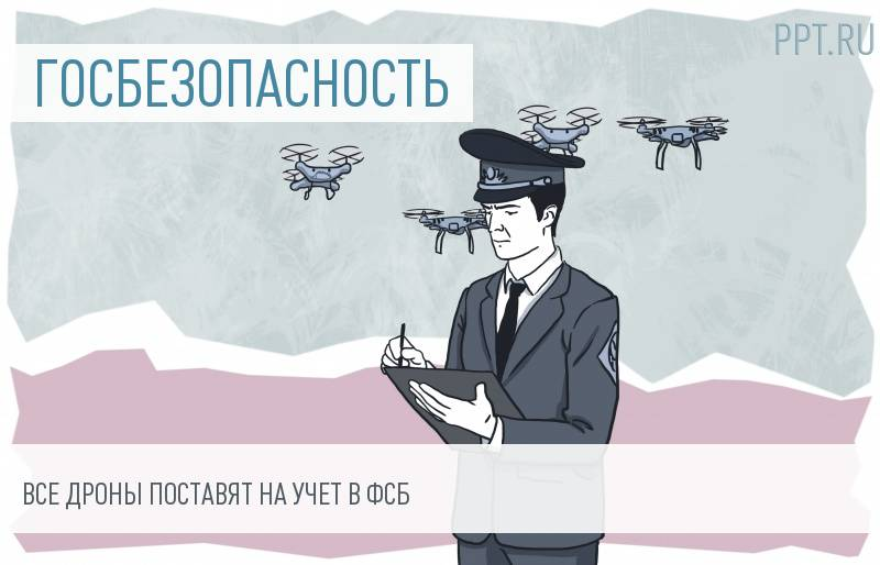 Регистрацией беспилотников займется ФСБ