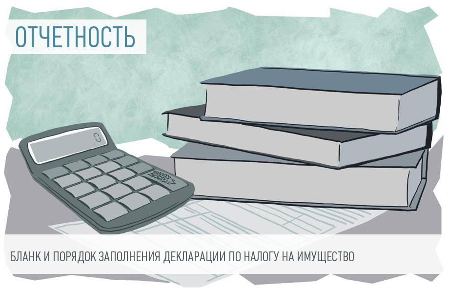 Образец заполнения декларации по налогу на имущество и лечение одновременно