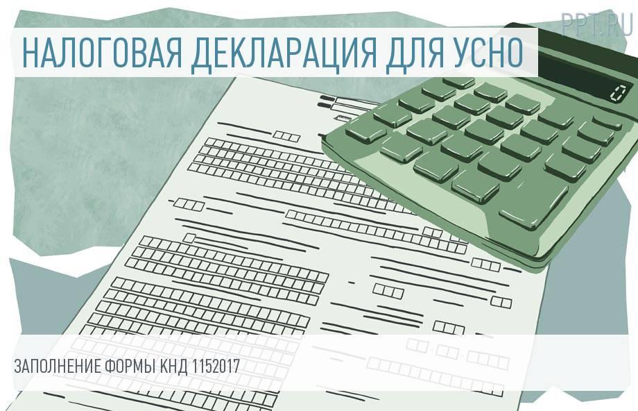 Как заполнить налоговую декларацию КНД 1152017 организациям и ИП на УСНО